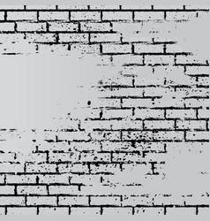 gray grunge brick wall vector image