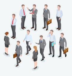 group of business human isometric design vector image vector image