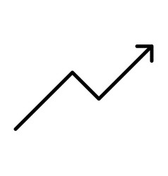 growing business graph line icon vector image