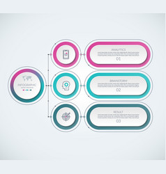 infographic template with 3 options vector image vector image