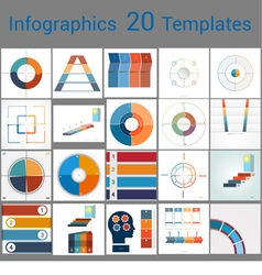Infographics 20 templates text area 4 positions vector