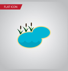 Isolated lake flat icon pond element can vector