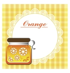 Label for orange jam vector