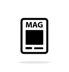 Magazine icon on white background vector