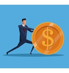 Man business money financial economy vector