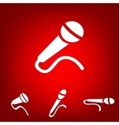 Microphone icon set isometric effect vector
