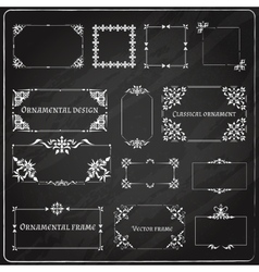 Ornamental design corners set vector image vector image