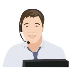 Profession receptionist man vector