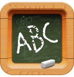School blackboard icon vector image
