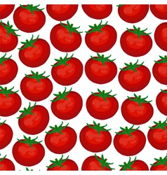 seamless background of red ripe tomatoes vector image