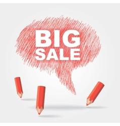 Text bubble big sale vector