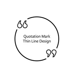 Thin line quotation mark vector