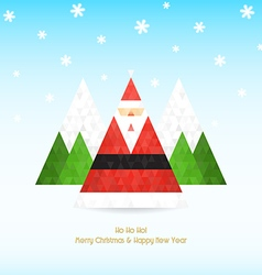 Triangular santa claus christmas celebration vector