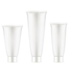 Tube Of Cream White Clean EPS 10 vector image