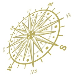 Wind rose compass isolated on white vector