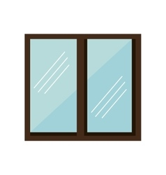 Windows house isolated icon vector