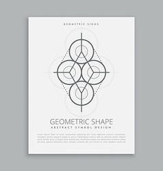 Mystic sacred geometry shape vector