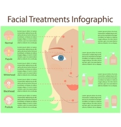 Poster infographics of skin problems vector