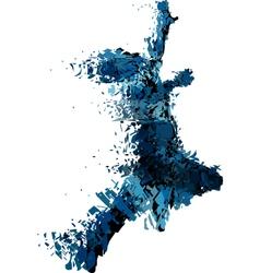 Shattered runner vector image