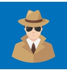 Flat detective icon - professions icons vector