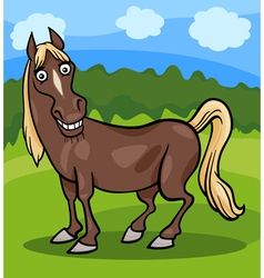 Horse farm animal cartoon vector