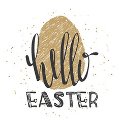 Happy easter lettering modern calligraphy style vector