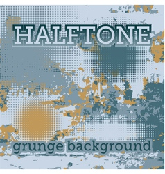 Halftones on the grunge background vector