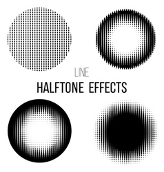 abstract line halftone vector image