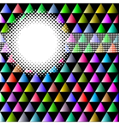 Background with colored triangles and circles vector