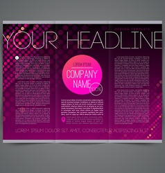 Template abstract leaflet page design vector image