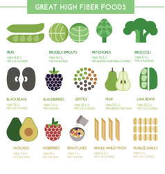 Great high fiber foods vector