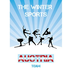The winter sports austria team vector