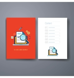 Modern cards design template vector