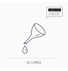 Oil change service icon fuel can with drop sign vector