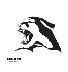 Black leopard silhouette vector image