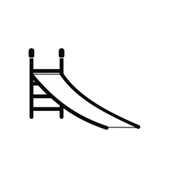 Playground slide icon vector