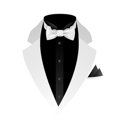 white tuxedo vector image