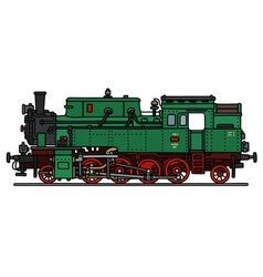 Classic green steam locomotive vector