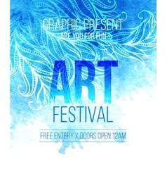 Art festival template poster vector