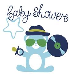 Baby shower for boy fun design vector
