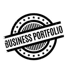 Business portfolio rubber stamp vector