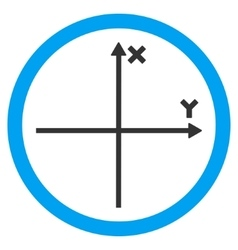 Cartesian axis flat rounded icon vector