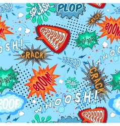 Comic Chat Seamless Pattern vector image vector image