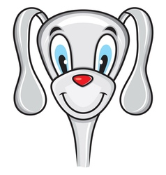 Cute funny dog vector image