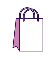 cute shopping bag cartoon vector image