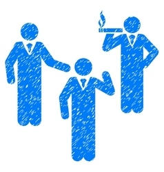 Discuss standing persons grainy texture icon vector