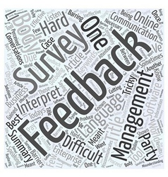 Feedback Management Word Cloud Concept vector image