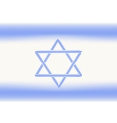Flag of Israel Independence Day of the State of vector image vector image