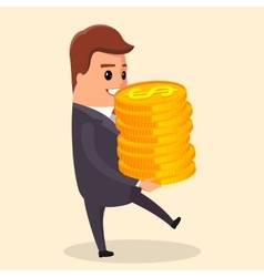 flat Manager character with vector image vector image