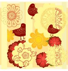 flowerbird vector image vector image
